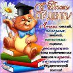 Поздравить с днем студента открытка